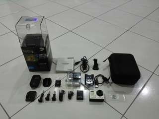 Gopro Hero 3+ Black Edition with Remote and Memorycard 16GB Ultra