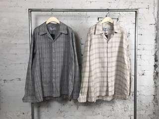 🚚 韓國棉麻格子襯衫