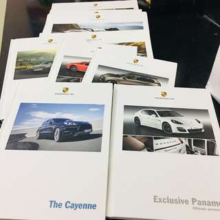 Various Porsche Models Catalogs