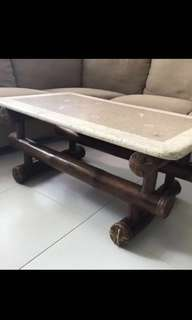 MUST GO - Coffee Side Table with Marble Top