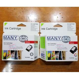 Canon Ink Cartridge 打印機代用墨盒 (黑色PG810-XL + 彩色CL-811XL)