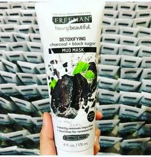 Freeman Mud Mask Detoxifying Charcoal Black Sugar
