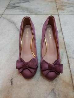Ribbon purple heels