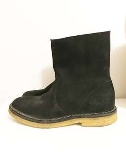 NEW APC Sz 36 Black Suede Leather Ankle Boots
