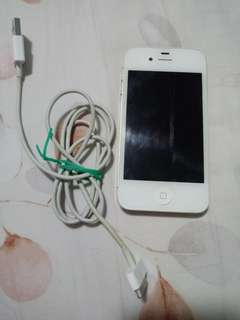 Iphone 4s putih second