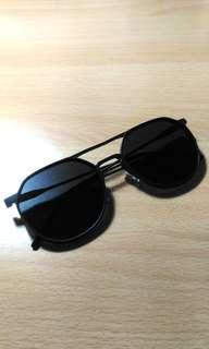 (Baru) Kacamata Retro Hitam Full