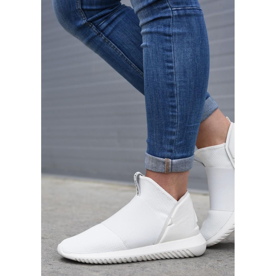 purchase cheap 17376 f5af1 adidas Tubular Defiant leather and mesh slip-on sneakers (Ne