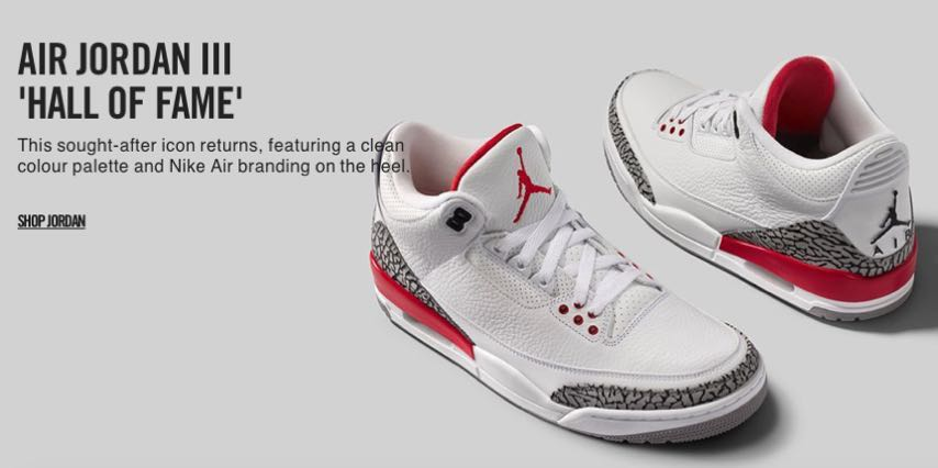 brand new 0b0d9 b0bcf Air Jordan 3 Retro  HOF  Katrina, Men s Fashion, Footwear on Carousell