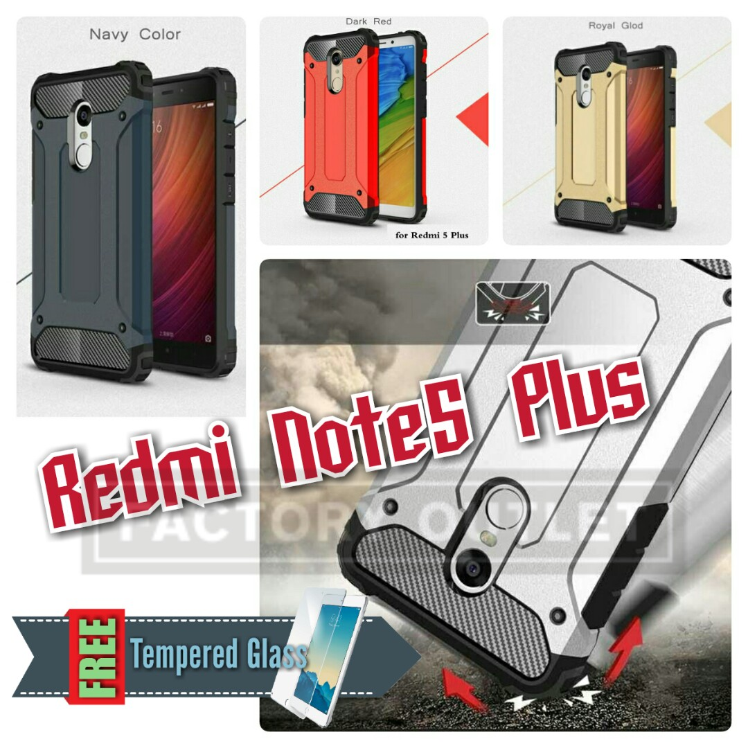 Armor Case For Xiaomi Redmi Mi 5plus Note5 Mobiles Tablets Ume Tempered Glass Note 4 4x Photo