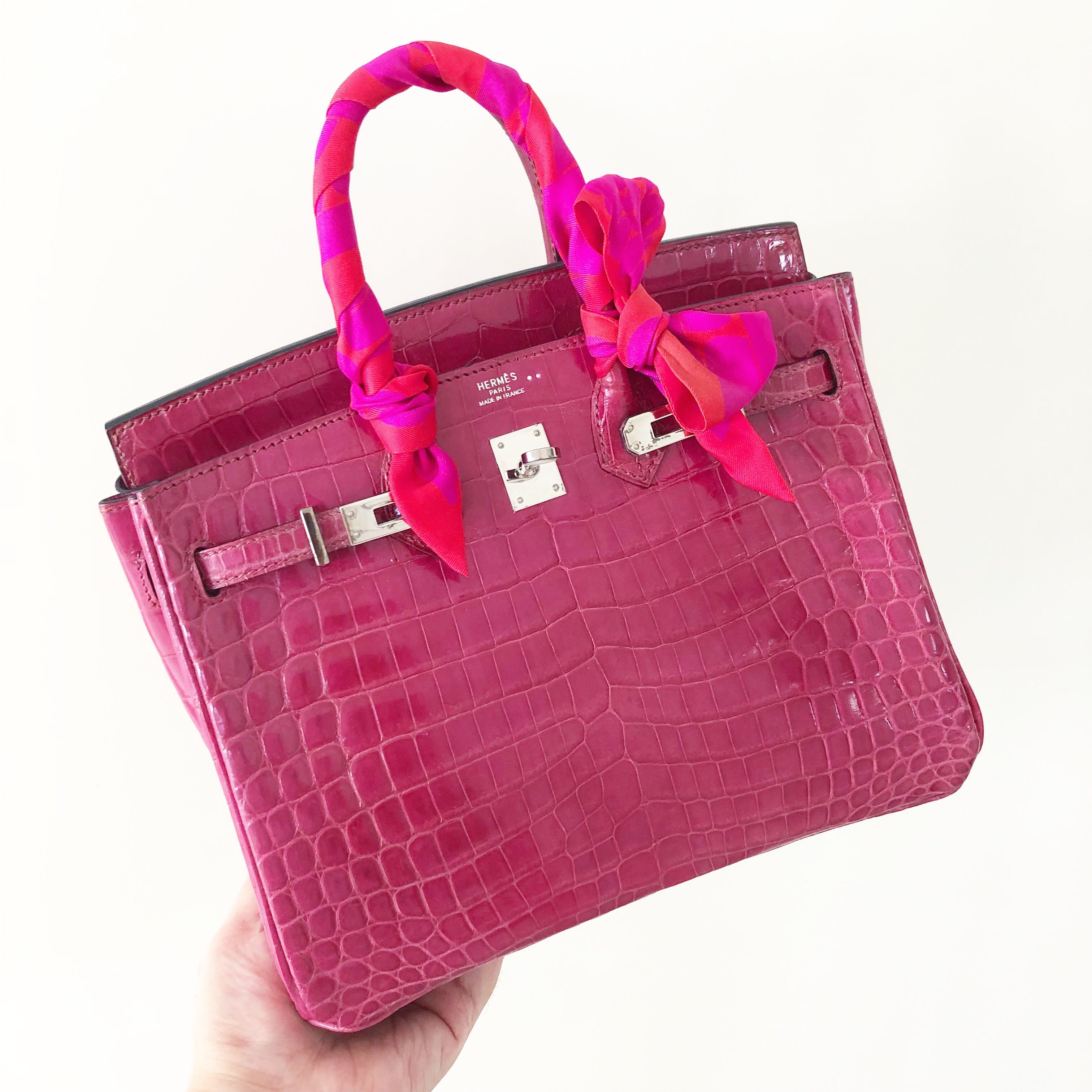 46ed34422099 ... wholesale authentic preloved hermes birkin 25 fuchsia shiny niloticus  phw i stamp luxury bags wallets handbags