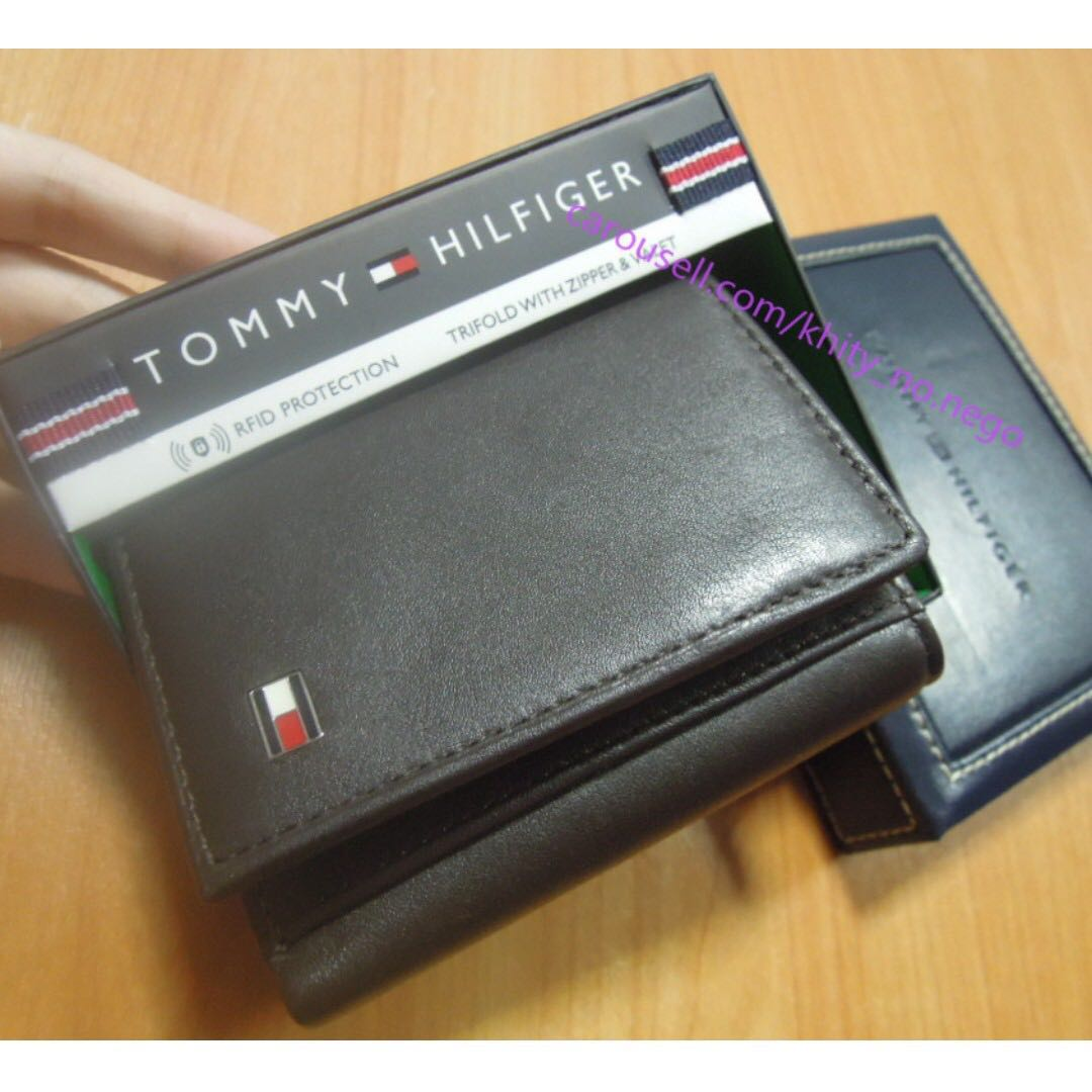 new high speical offer sale online AUTHENTIC Tommy Hilfiger Men's genuine Leather wallet with ...