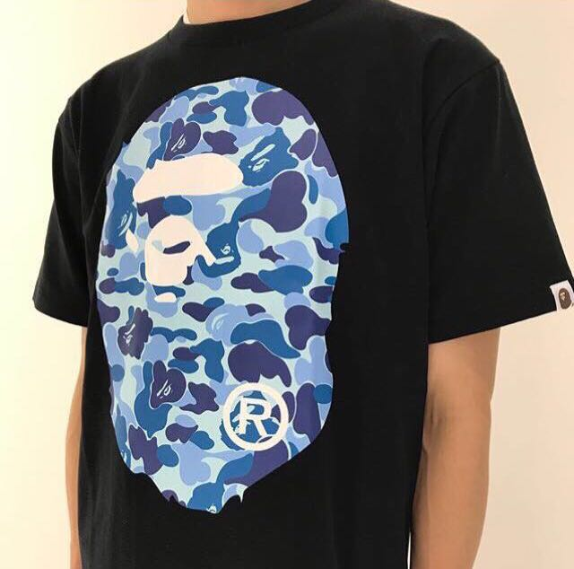 bcee628f3 BAPE ABC BIG APE HEAD TEE, Men's Fashion, Clothes, Tops on Carousell