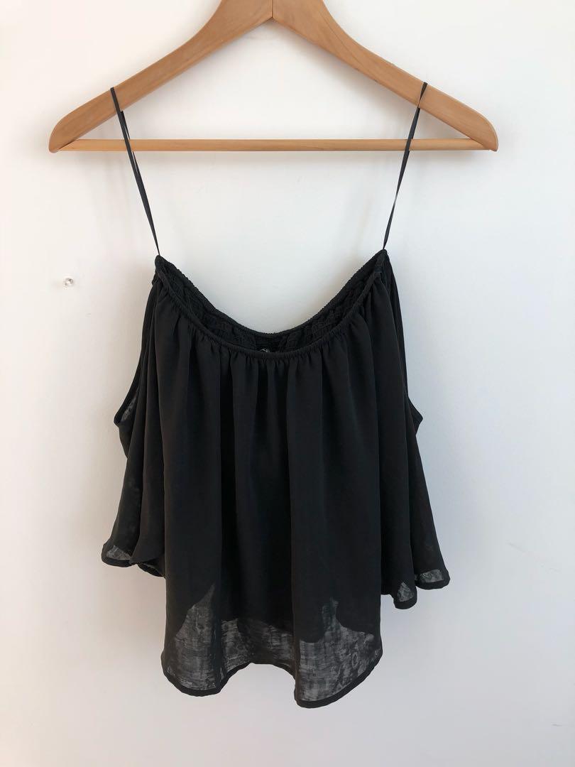 Black Off-Shoulder Top (XS/S)