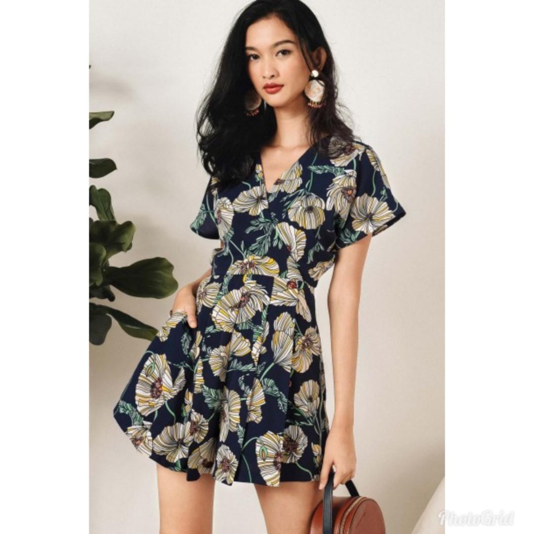 19552972a8 BNWT FM Cami Floral Kimono Playsuit Romper (FashMob)