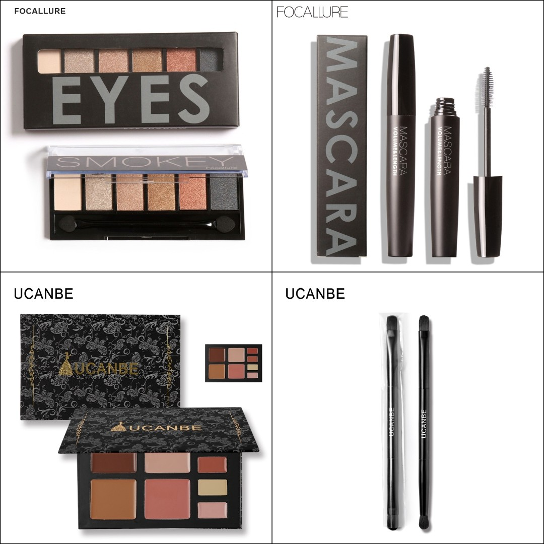 Bundle Focallure Ucanbe Face Makeup Combo With Eyeshadow Mascara