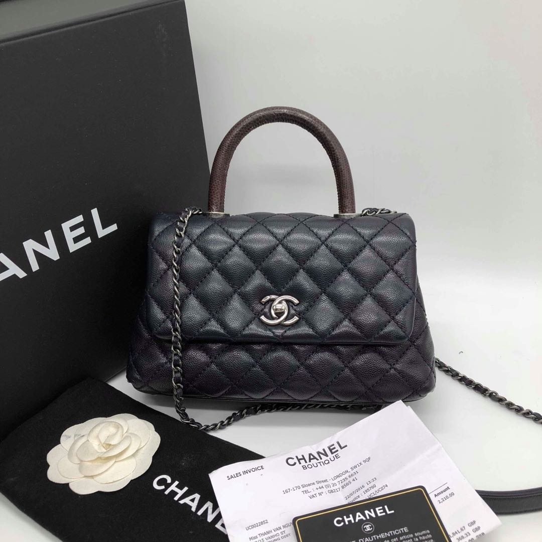 Chanel coco dark navy mini size bdfa03f7c193b