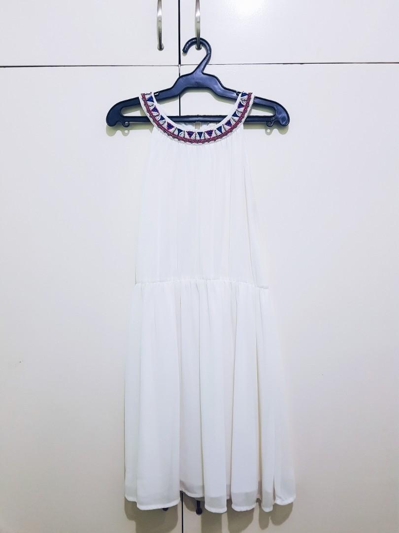 6d9060e743d5 REPRICED  Chill Haltered Summer Dress (White)
