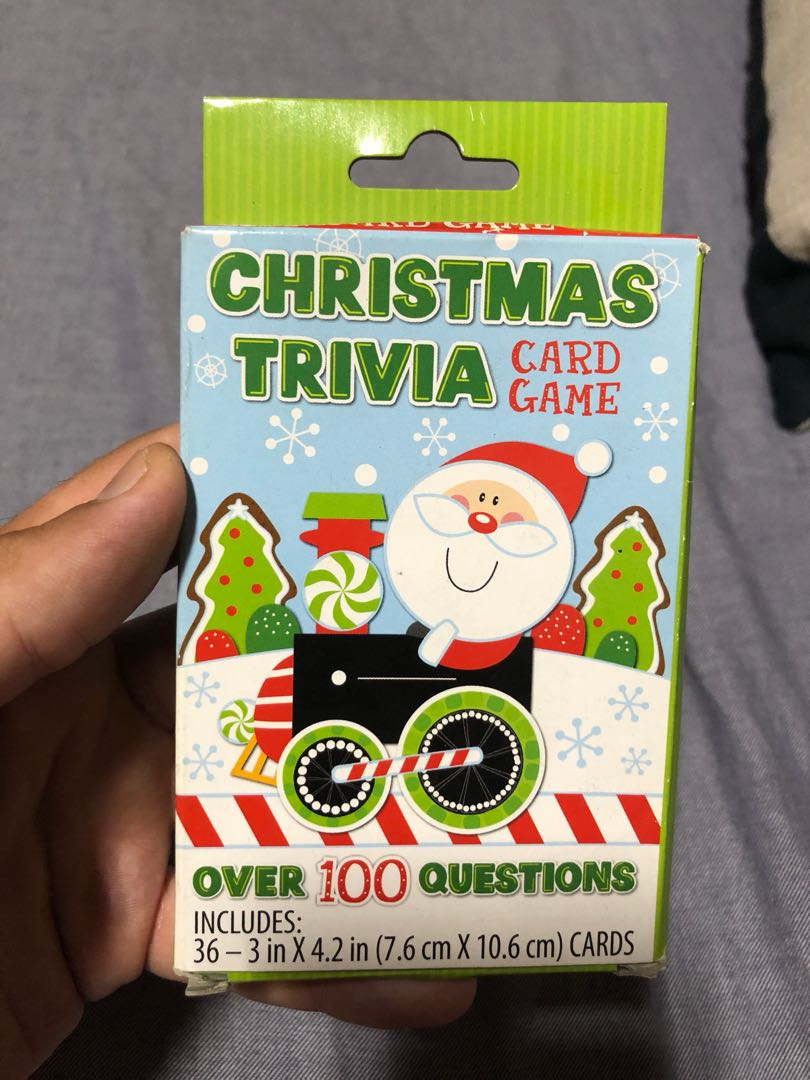 Christmas Trivia Card Game, Toys & Games, Board Games & Cards on ...