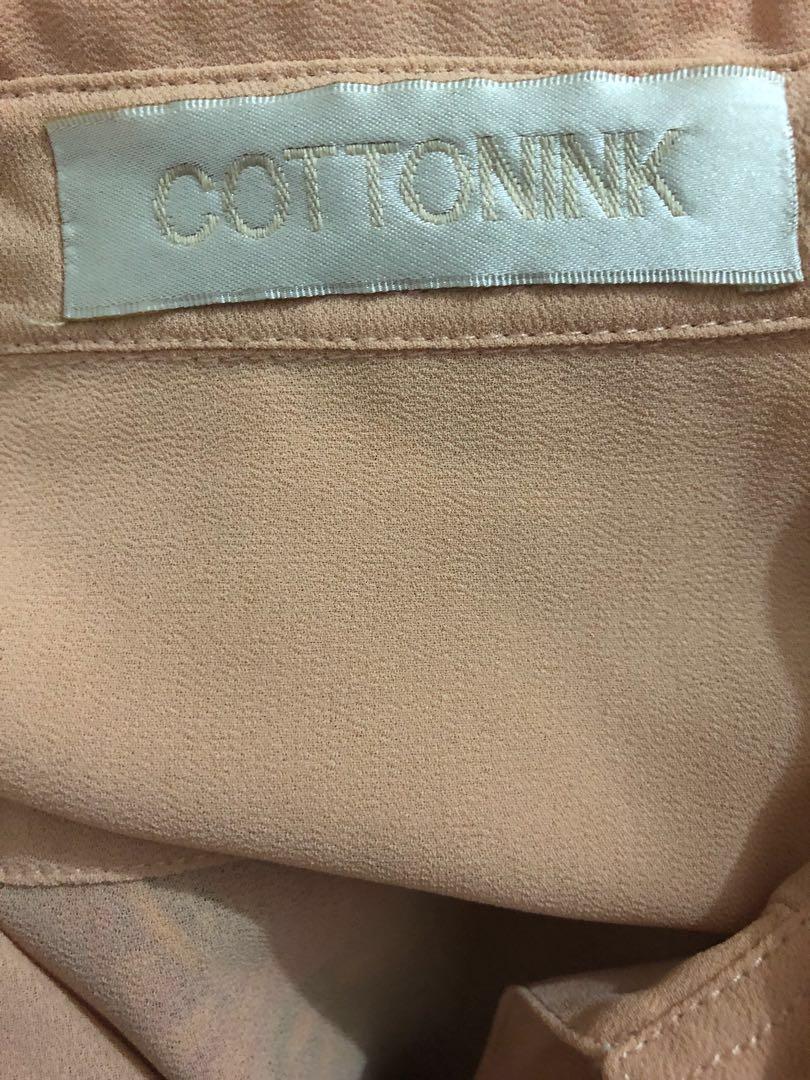 COTTONINK Nude Scallop Shirt