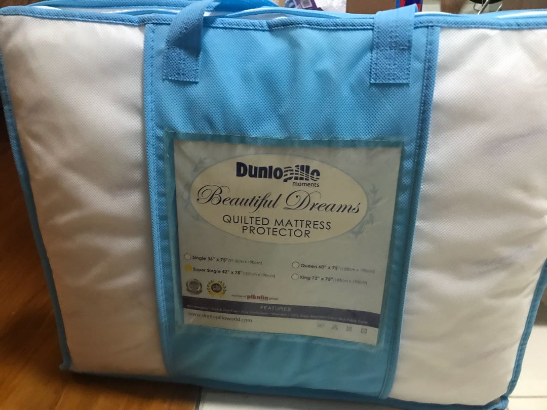 Dunlopillo Quilted Mattress Protector Furniture Beds Mattresses Folding Bed On Carousell