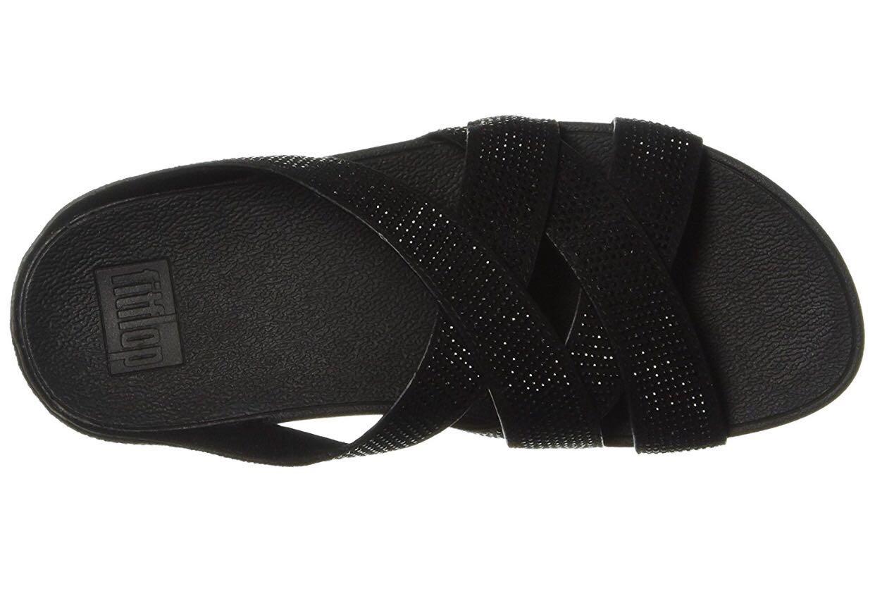 c99d2b0b81e5 Fitflop Women s Slinky Rokkit Criss-Cross Slide Sandal 39 8 size ...