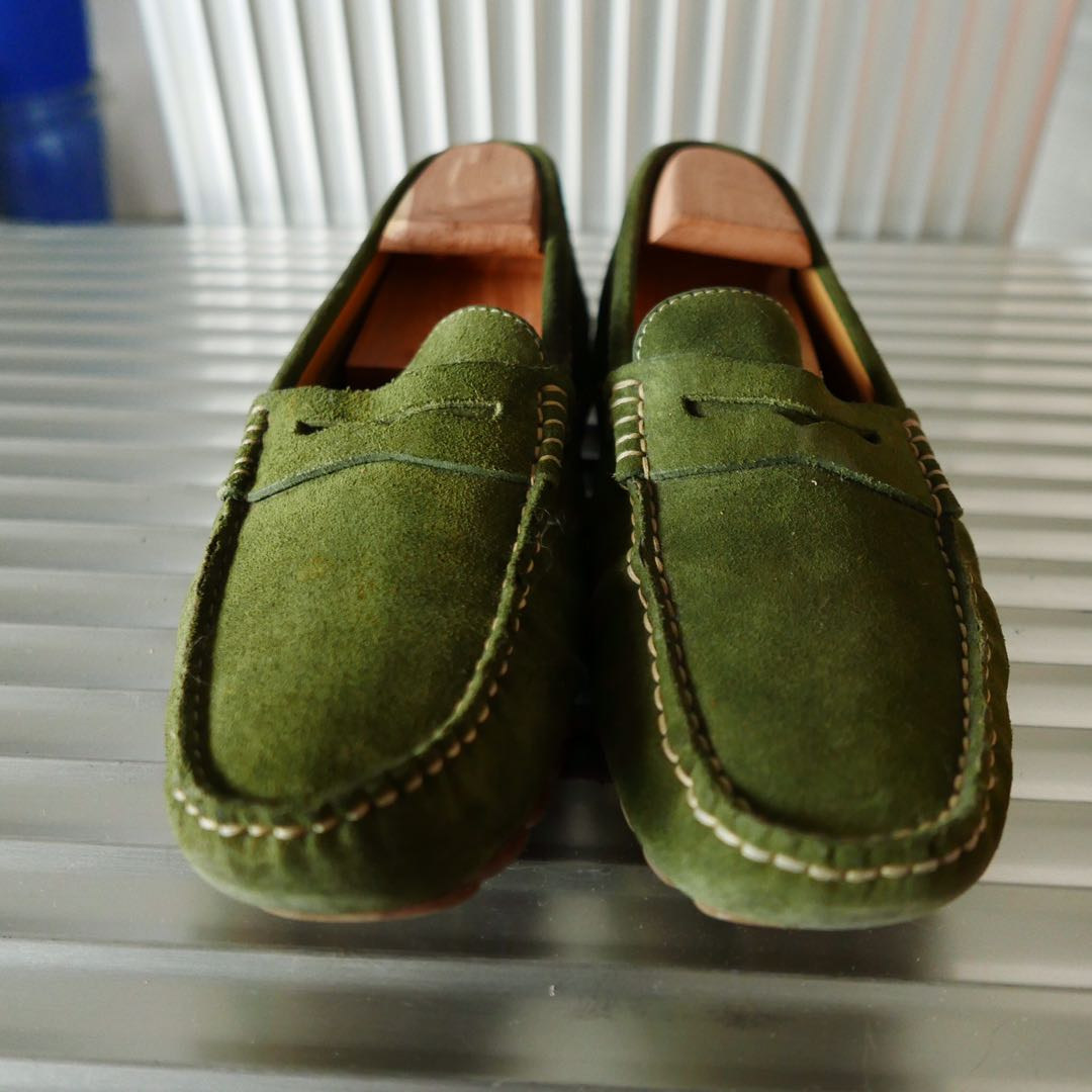 0994c28dc07 GREEN SUEDE LOAFERS SIZE 42 MASSIMO DUTTI