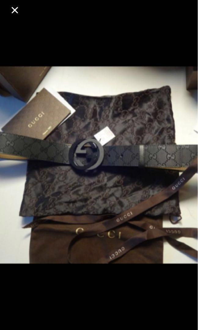 2bc25669d Gucci Black Imprime Double G Belt, Luxury, Accessories, Belts on ...