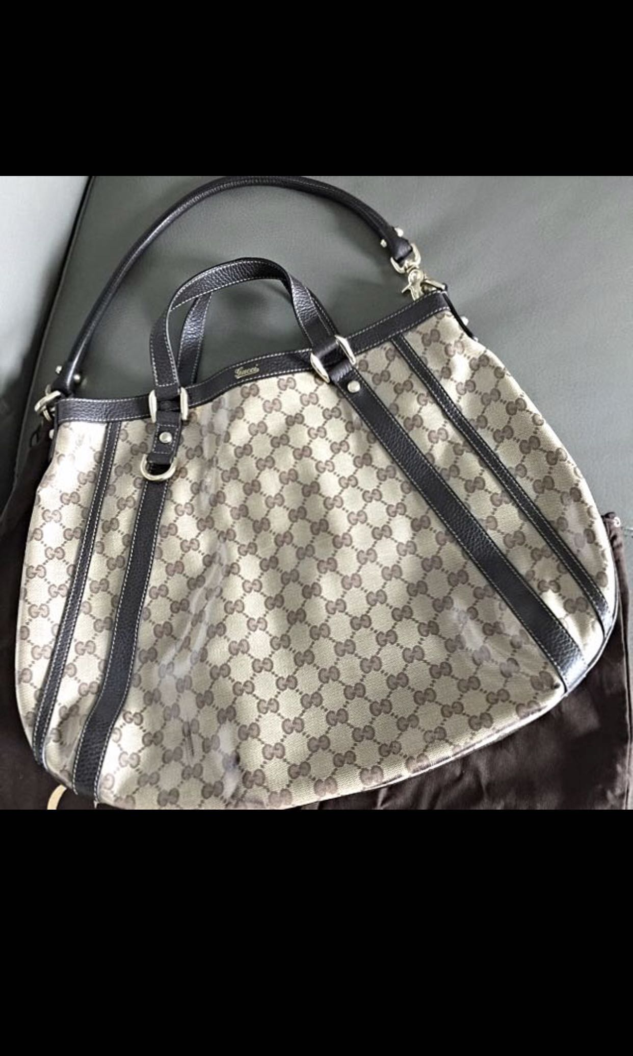 c61ad6506a3f Gucci Double Sling Bag - Brand New, Luxury, Bags & Wallets on Carousell