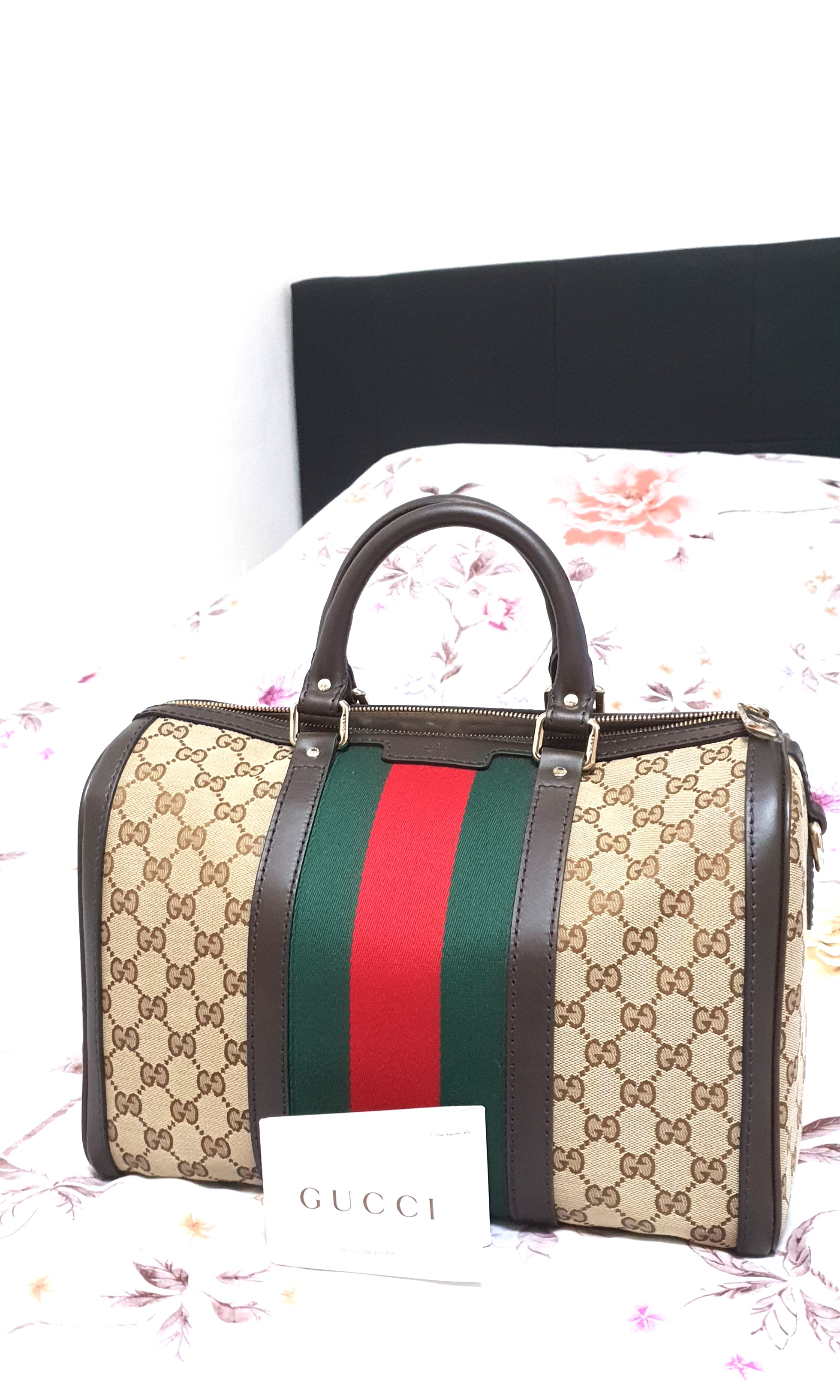 0f96eba450c Gucci-Vintage Web GG Boston Bag