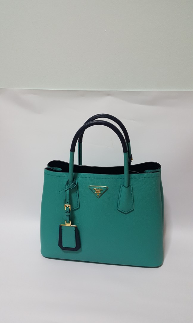 Iconic Brand New Prada Galleria Bag Limited Edition in Jade colour ... c94a783e090af