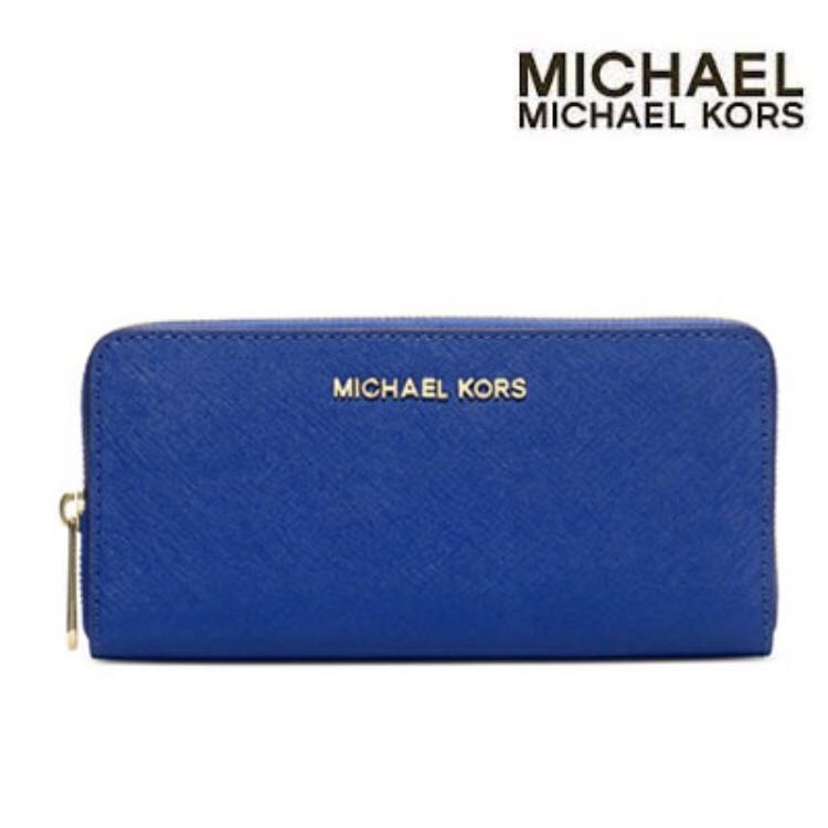 1e08a0345f6c Michael Kors Jet Set Travel Zip-around Saffiano Leather Continental ...