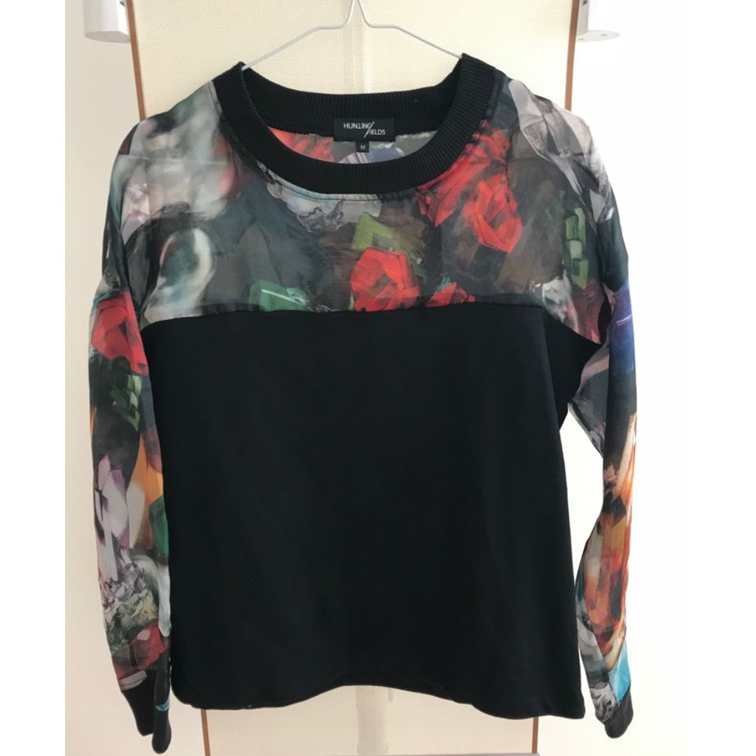 Multi Fabric Sweater Womens Fashion Clothes Tops On Carousell Blouse Rahmat Flower Photo