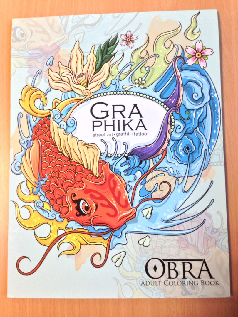 Obra Graphika Adult Coloring Book, Books, Books on Carousell