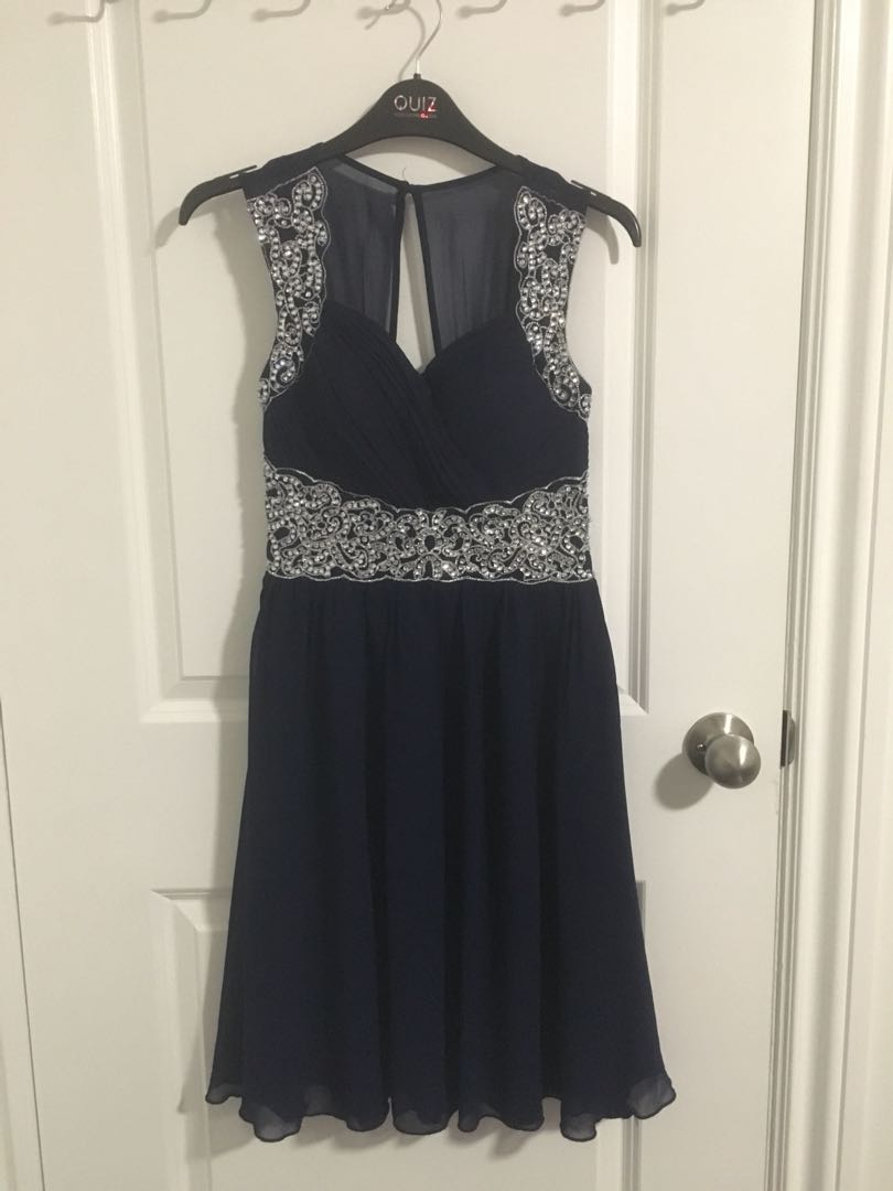 Quiz Clothing Navy Blue Special Occasion Dress