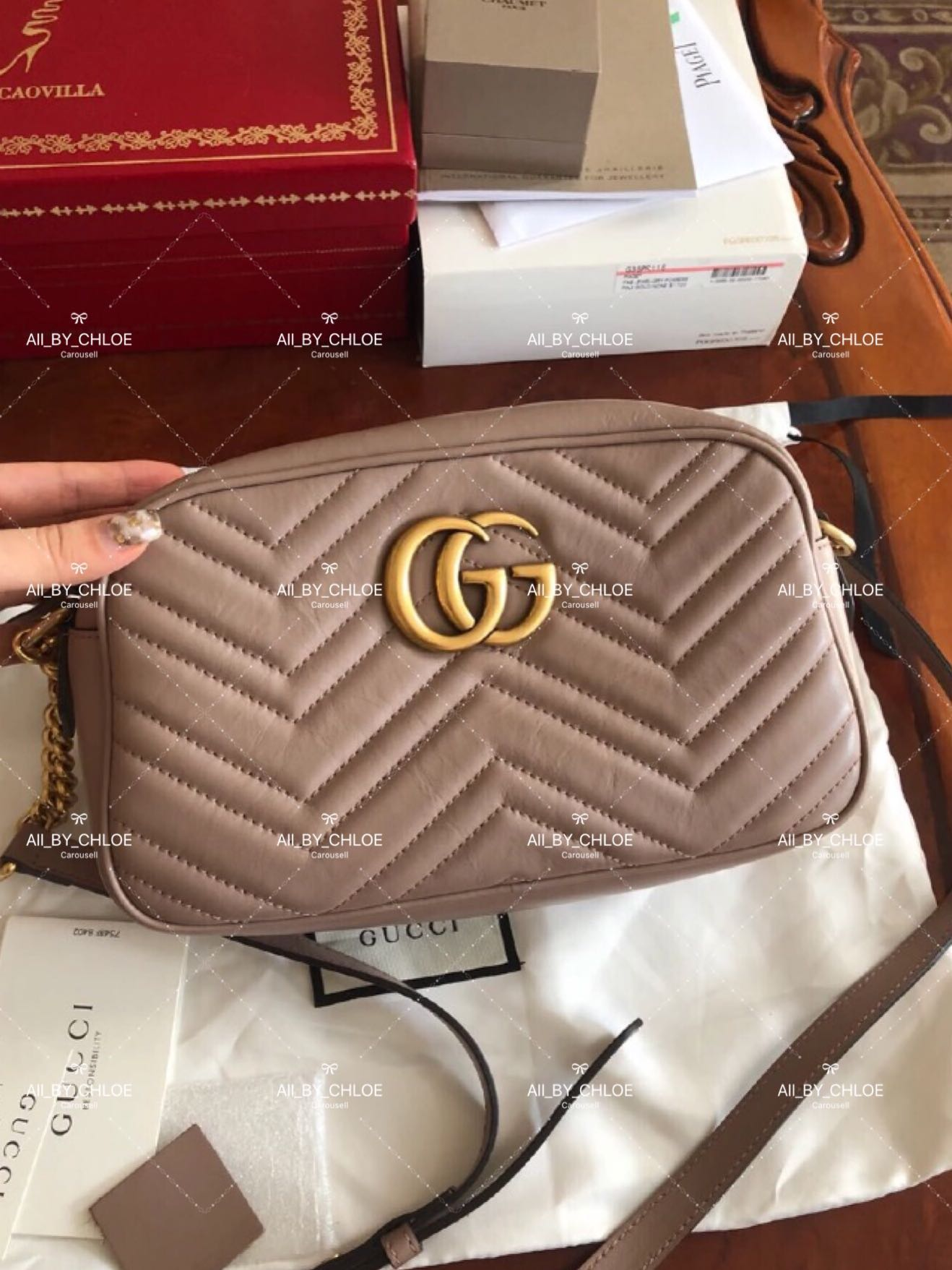 1f8cd416d ️Gucci Marmont chain shoulder bag, Luxury, Bags & Wallets on Carousell