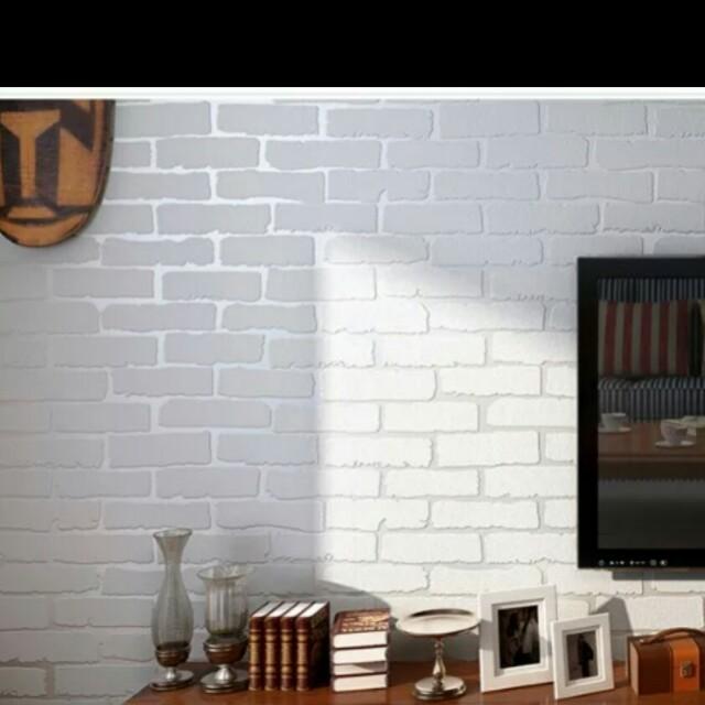 Self Adhesive Wallpaper Thick 3d Brick Wall Stickers