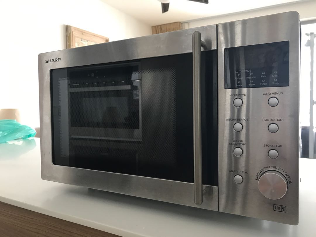 Sharp R28STM Microwave Oven, Stainless Steel
