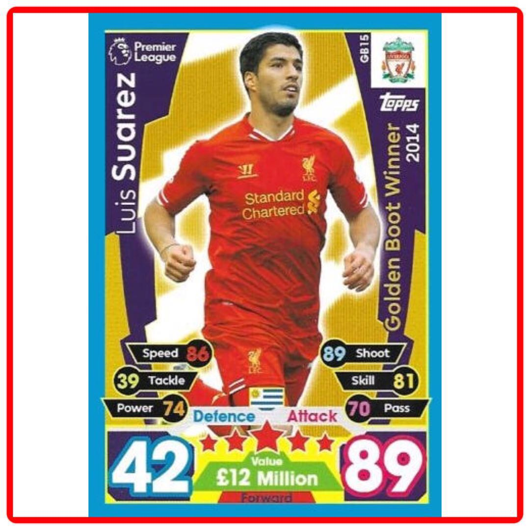 Luis Suarez Not Our C Any More: Topps Match Attax Extra 2018 Luis Suarez Golden Boot