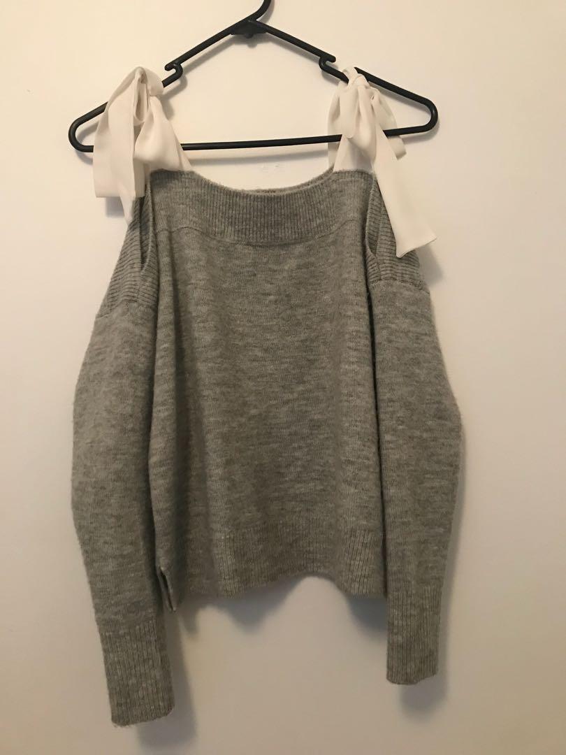 Topshop Ribbon sweater