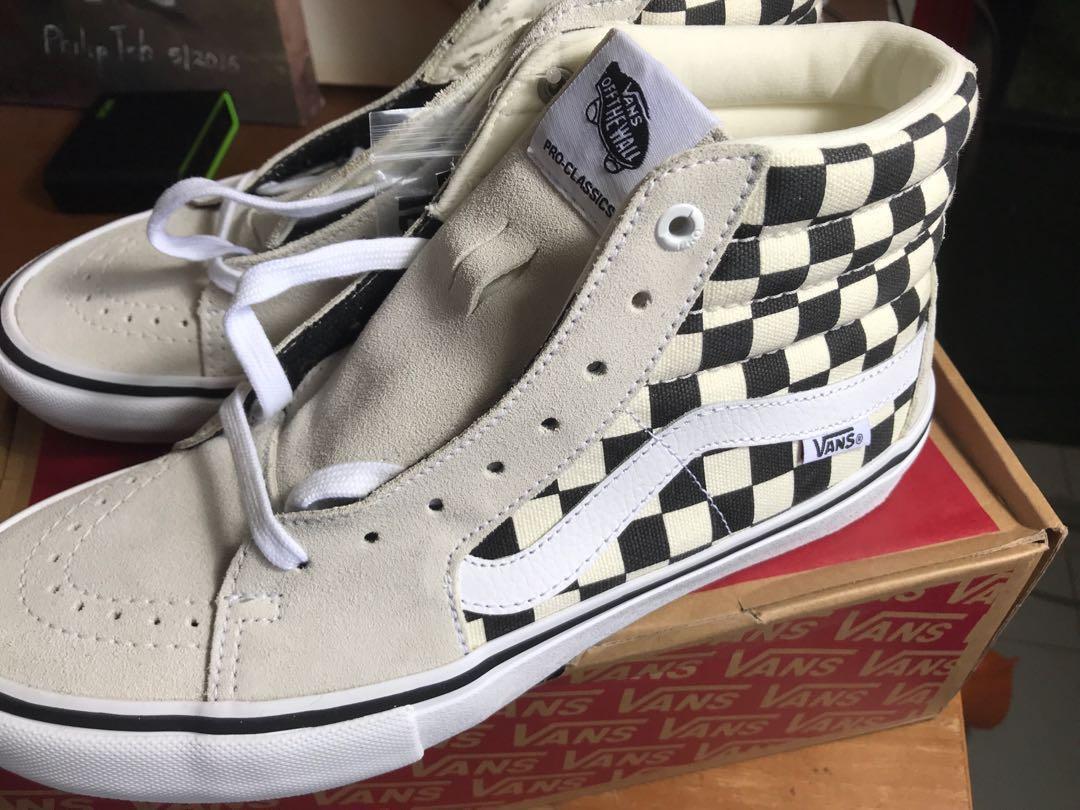 2df98c24a9eb45 Vans SK8-Hi pro checkered shoes