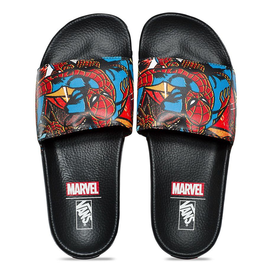 0e25afd04a Vans X Marvel Spider Man Slide On