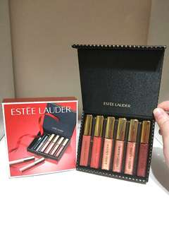 💰🎈#HariRaya35 BRAND NEW!! LIMITED EDITION X6 ESTEE LAUDER MINI LIP GLOSS 4.6ML EACH!! COMES IN A MAGETNIC GOLD POLKA DOTS GIFT BOX!! GREAT AS GIFT!! OR TO PAMPER URSELF!! TRAVEL SIZE!! SUPER LIGHT-WEIGHT!! ONLY 1!! HURRY WHILE STOCK LAST!! HURRY!!
