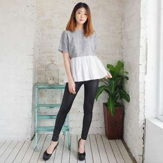 Twotone top import atasan
