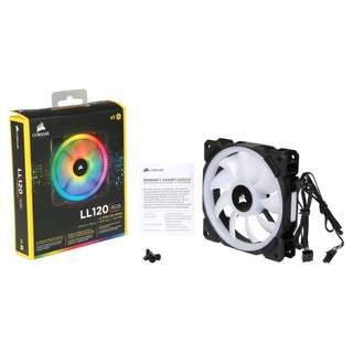 CORSAIR LL120 RGB 120mm Dual Light Loop RGB LED PWM Fan — Single Pack