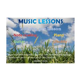 MUSIC LESSONS FOR BEGINNERS