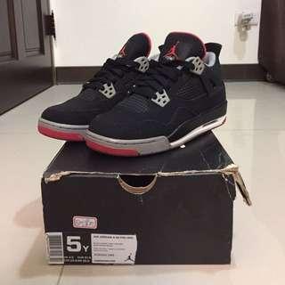 Jordan 4 retro bred/5y
