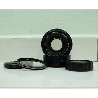 WTS > Used Minolta MC Rokkor-PG 50mm F1.4 (55mm Filter Thread) MD Mount