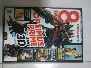8 days (various issues transformer,
