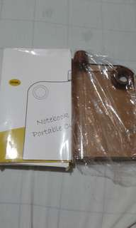 FreeSF| Notebook Portable Cup Plain Brown Brandnew