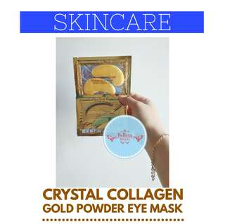 Masker Mata Crystal Collagen Gold Powder Eye Mask Termurah